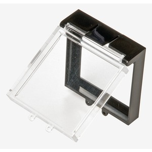 Schutzklappe 30x30mm quadratisch flach Drucktaster