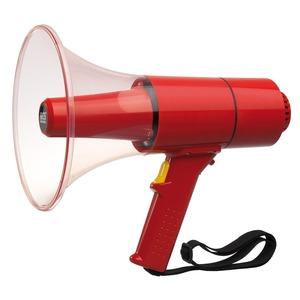 Waterproof Handmegafon, max. 25 W, rot, mit Sirenensignal