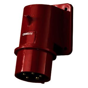 391, Aufbaustecker 5pol.5x32A spritzwassergeschützt