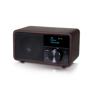 DAB+1 mini Holz dunkel, Kleines, klangstarkes FM-/DAB+-Radio, Bluetooth für drahtloses Audio-Streaming, manuelle Senderabstimmung, LED Display, externe Antennenbuchs