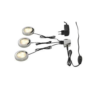 UTIX LED Downlightset, 3er, chrom, 3000K
