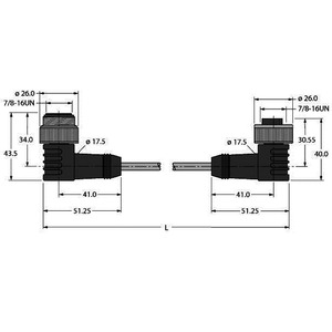 WSM WKM 5723-15M, Busleitung für CAN (DeviceNet™, CANopen), TPU-Kabelmantel