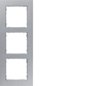 3-fach Rahmen ART, silber