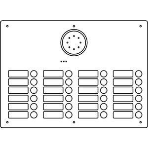 Acero Edelstahl-Türstation Audio, 24 WE, Audio, Edelstahl