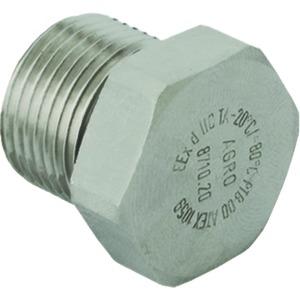 Verschlussschraube Messing M25x1.5, Ex d IIC, mit O-Ring NBR