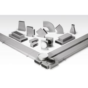 FK-BH 200/90, FK-BH 200/90, Flachkanalbogen waagrecht 200 x 50 mm, 90 Grad