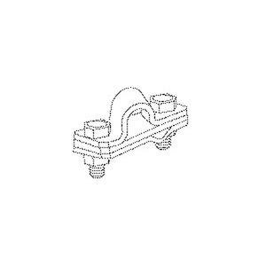 405/25, Anschlussschelle, 30x103x4 mm, Tiefenerder Ø25 mm, Stahl, feuerverzinkt DIN EN ISO 1461