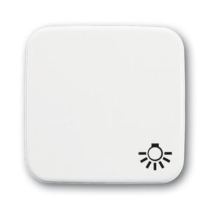 2520 LI-214, Wippe mit Aufdruck, alpinweiß, SI/Reflex SI, Abdeckungen für Schalter/Taster