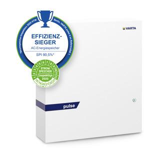 VARTA pulse 6 Weiß, VARTA Komplettsystem inkl. BM 6,5 kWh für die Neuinstallation und Nachrüstung 1-phasig; Wandmontage