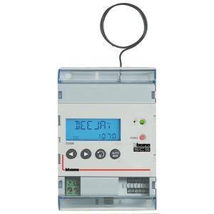 Reiheneinbau RDS-Stereo-Tuner, frontseitiges Display, Antennenanschluss über F-Connector/Wurfantenne, 4 TE DIN