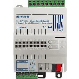72130-180-01, IPAS uBrick io66, Multifunktionsaktor mit bis zu 6 digitalen Ausgängen (6 x Schalten/3 x Antriebe) / 6 Binär- oder Analogeingänge