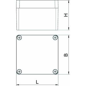 Mx 080705 SGT, Aluminiumleergehäuse 80x75x57, AlG, SGT