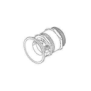 920/16, Kabelverschraubung externer Zugentlastung, Pg 16, Kabel-Ø 12-14 mm, Messing, vernickelt
