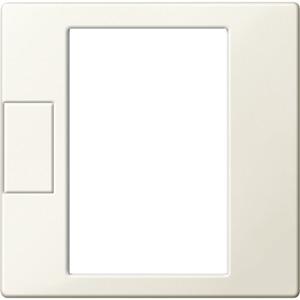 Zentralplatte für Universal Temperaturregler-Einsatz mit Touch-Display weiß glänzend, System M