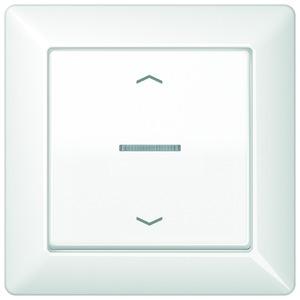 AS 590 KO5P WW, Abdeckung, Symbole Pfeile, Linse, Lichtleiter, volle Platte, für Taster BA 1fach Mittenstellung