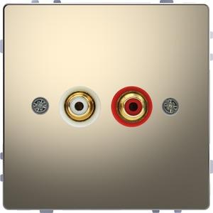 Steckdose für Audio Anschluss, Nickelmetallic, System Design