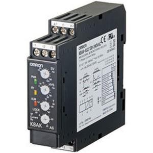 K8AK-AS3 24VAC/DC, 1-Ph.-Stromüberwachung, Über-/ Unterstrom, bis 200 A AC (per Stromwandler)