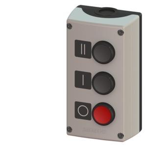 3SB3803-0DB3, Geh. für 22mm Prog. Kunststoffausf. 3 Befehlsstellen Oberteil grau