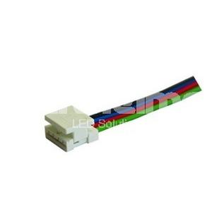 Connector LED-Streifen 8mm 4-polig mit Kabel