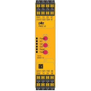 750105, PNOZ s5 24VDC 2 n/o 2 n/o t