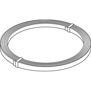 2317/35/25, Bandeisen, Materialstärke (t) 3,5 mm, Breite 30 mm, Länge 25000 mm, Stahl, feuerverzinkt DIN EN ISO 1461, Zinkauflage 50