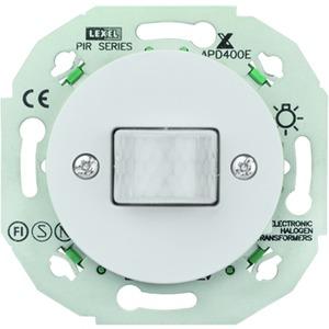 PIR mit Relais 4-2300W/VA mit Zentralplatte weiss RENOVA