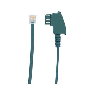 line21®-ADAP TAE/UAE, Adapterkabel TAE/UAE, zur Einspeisung von analogen Telefonsignalen in eine line21®-Linie, schwarz