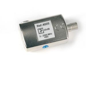 Pegelsteller F-Buchse/F-Quickstecker 20 dB 5-2200 DC