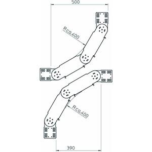 RGBV 160 FS, Gelenkbogen vertikal 110x600, St, FS