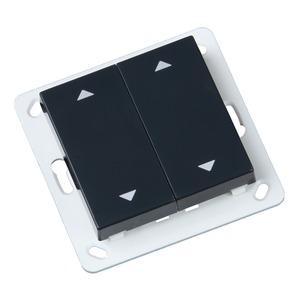 Wandtaster Easywave 868 MHz Format 55 2-Kanal 2x Auf/Zu anthrazit