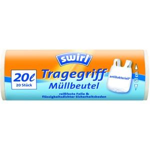 20 l Tragegriff Müllbeutel   VPE, Swirl® 20 l Tragegriff Müllbeutel, VPE