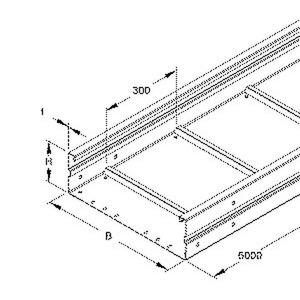 WRU 150.400 F, Weitspannkabelrinne, 150x400x6000 mm, t=1,5 mm, ungelocht, Stahl, feuerverzinkt DIN EN ISO 1461, inkl. Zubehör