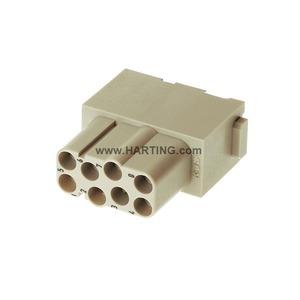 Han EE Modul, Han-Quick Lock Anschluss, Buchse, Kontakte: 8, Leiterquerschnitt: 0,25...1,5mm², Bemessungsstrom: 16A