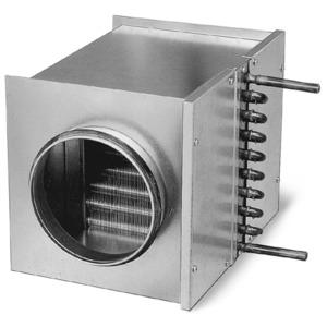 WHR 100, WHR 100, Warmwasser-Heizregister für Rohrdurchmesser 100 mm