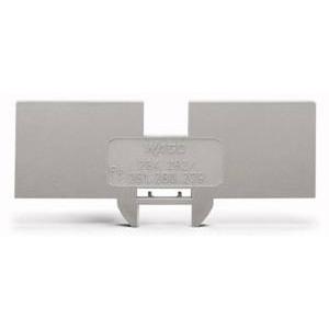Reduzierabdeckplatte 1 mm dick nur für 2 Leiter-Klemme 283-601 grau