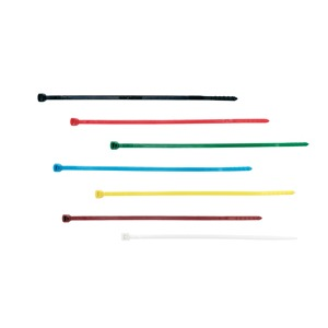TY200-40-100, Kabelbinder einteilig, Standard, 205x3.5 mm, 180N, naturfarben, PA 6.6, VPE 100