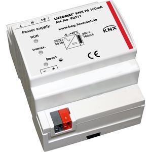 KNX PS 160 mA, Die Spannungsversorgung KNX PS besitzt eine integrierte Drossel, um den BUS mit einer konstanten, stabilisierten Spannung zu versorgen