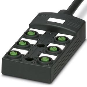 SACB-6/ 6-L- 5,0PUR SCO P, Sensor-/Aktor-Box-SACB-6/ 6-L- 5,0PUR SCO P