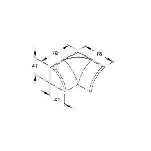 EDKI50.3, Inneneck/T-Stück, 41x41 mm, Kunststoff ASA, RAL 9010, reinweiß