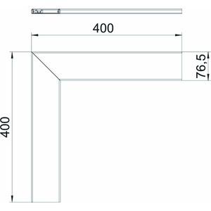 GA-OTFRW, Oberteil für Flachwinkel 400x80mm, Alu, reinweiß, RAL 9010