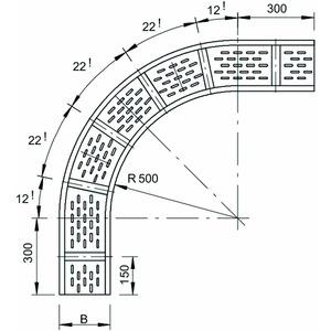 WRB 90 140 FT, Bogen 90° für Weitspannkabelrinne 110 110x400, St, FT