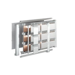 SV 9677.500, Sammelschienenhalter 3-polig, 185 mm Mittenabstand, für E-Cu 40-120x10 mm, Preis per VPE, VPE = 2 Stück