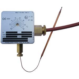 Ex-Raumthermostat, einstellbar -20…+50°C, mit Stellschraube, 16A 230V, IP66