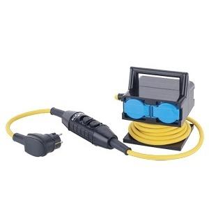 D04-/5/PR03/0,2/SCH11W, Schutzverteiler 5m 3G1,5mm² 4xSchukoPRCD-S