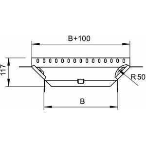 RAA 310 FS, Anbau-Abzweigstück mit 2 Winkelverbindern 35x100, St, FS