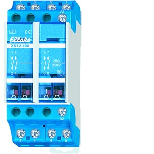 XS12-400-230V, Stromstoßschalter 230V. 4 Schließer 25A/250V AC