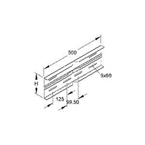 WSWV 150 F, Winkelverbinder, horizontal, 151,5x500 mm, Stahl, feuerverzinkt DIN EN ISO 1461, inkl. Zubehör