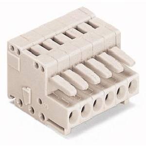 1-Leiter-Federleiste 100% fehlsteckgeschützt 1,5 mm² Rastermaß 3,5 mm 6-polig lichtgrau