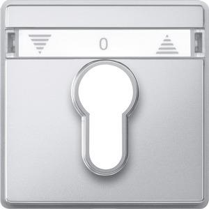 Zentralplatte für Rollladen-Tast-Rastschalter-Einsätze, aluminium, AQUADESIGN