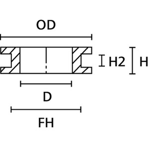 HV1302-PVC-FR-BK (1000), Durchführungstüllen HV1302 Schwarz PVC 1000 ST